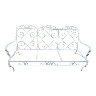Vintage Salternin Wrought Iron Sofa