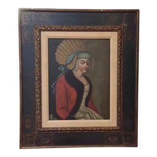 Colonial Woman Portrait Painting