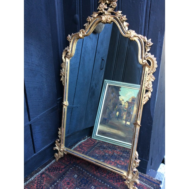 Antique Italian Gilt Carved Gold Mirror - Image 10 of 11