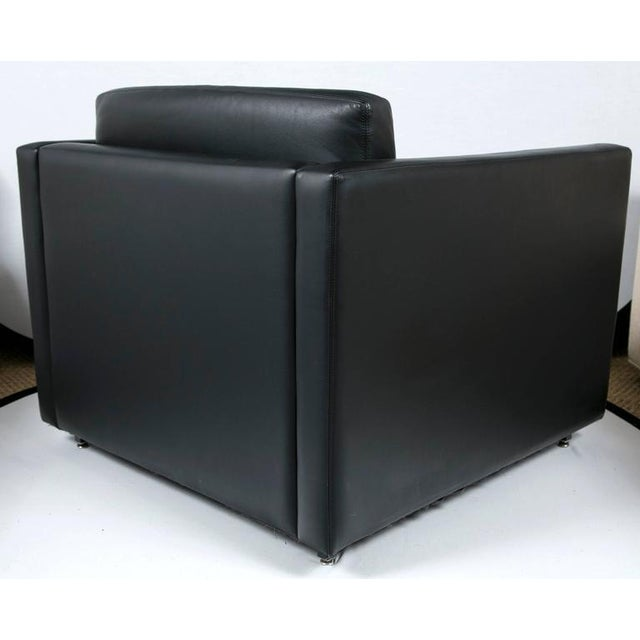 Pfister Lounge Chair in Black Leather - Image 5 of 7