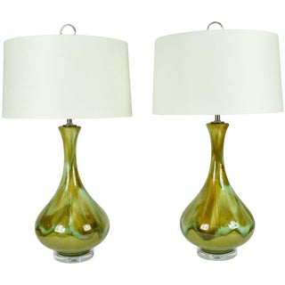Royal Haegar Ceramic Drip Glaze Lamps