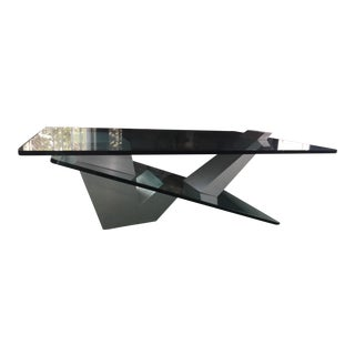 Contemporary Glass-Stainless Steel Coffee Table