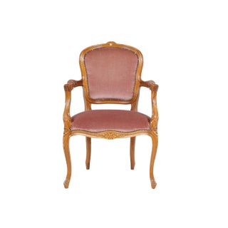 Vintage Louis XV Walnut Armchair