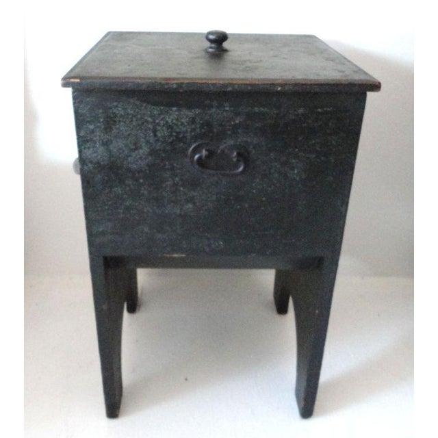 Image of Fantastic 19th Century Original Painted Shaker Style Bin/Churn/Signed
