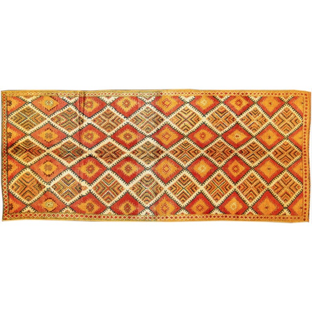 Image of Apadana - Vintage Orange Moroccan Rug - 5′ × 11′6″