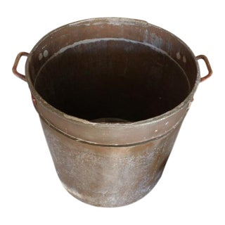 Historic Copper Cooking Pot, Oversized Open Fire BBQ