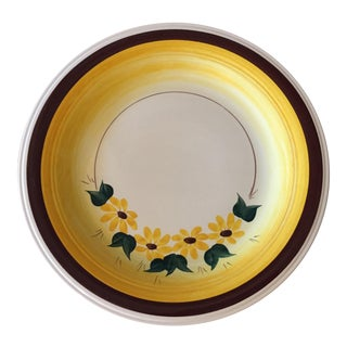 1940s Brown Eyed Susan Chop Plate