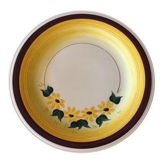 1940s Brown Eyed Susan Chop Plate