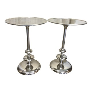 Silver Side Tables - A Pair