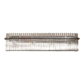 Mid-Century Modern Vanity Light with Chrome and Glass Rods by Lightolier