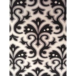 Contemporary Black & White Damask - 1.875 Yards