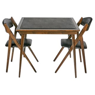 1950s Game Table & Chairs - Set of 3