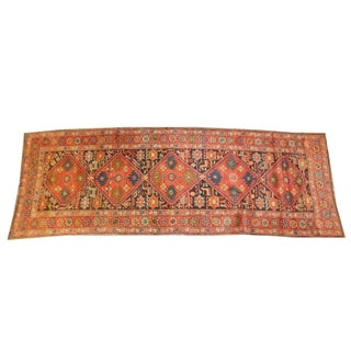 "Antique Persian Heriz Runner Rug - 9'8"" x 3'6"""