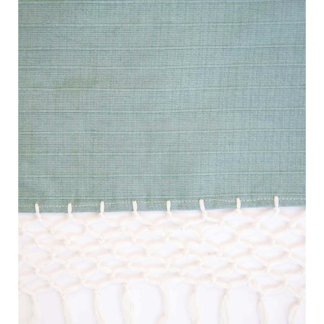 Sage Green Mexican Throw - Image 5 of 5