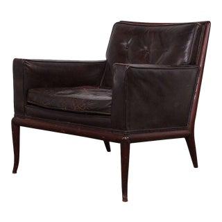 T.H. Robsjohn-Gibbings Lounge Chair in Original Leather