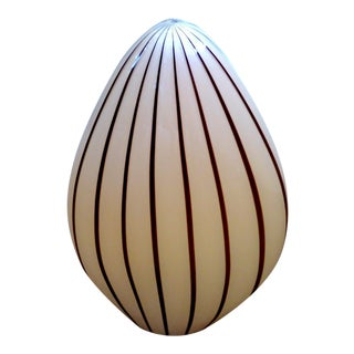 Vetri Murano Glass Egg Lamp