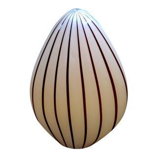 Vetri Murano Glass Egg Lamp