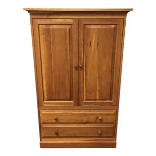 Contemporary Wooden Media Armoire