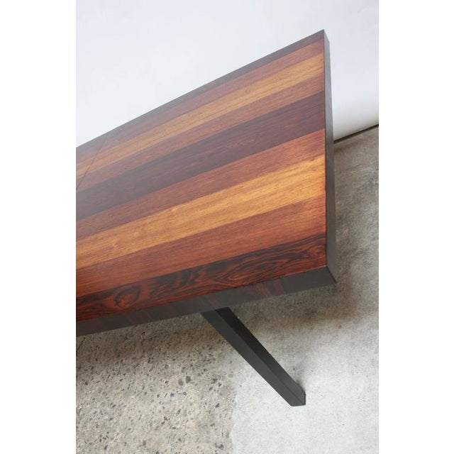 Milo Baughman Mixed Wood Dining Table For Directional - Image 5 of 11