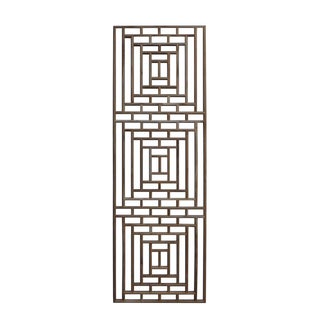 Rectangular Geometric Wood Wall Panel
