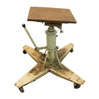 Antique Industrial Steel Rolling Table