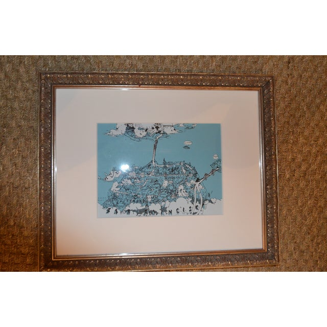 Framed San Francisco Pictorial Landmark Map Print - Image 5 of 11