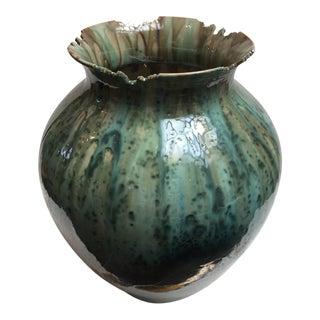 Green Reactive Glazed Vase