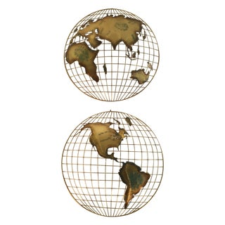 C. Jeré Globe Wall Sculptures - A Pair