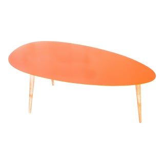 Large Orange Egg Table