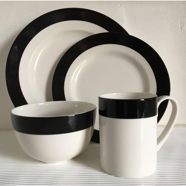 Graphic Black And White Dinnerware Set 32 Pieces Chairish