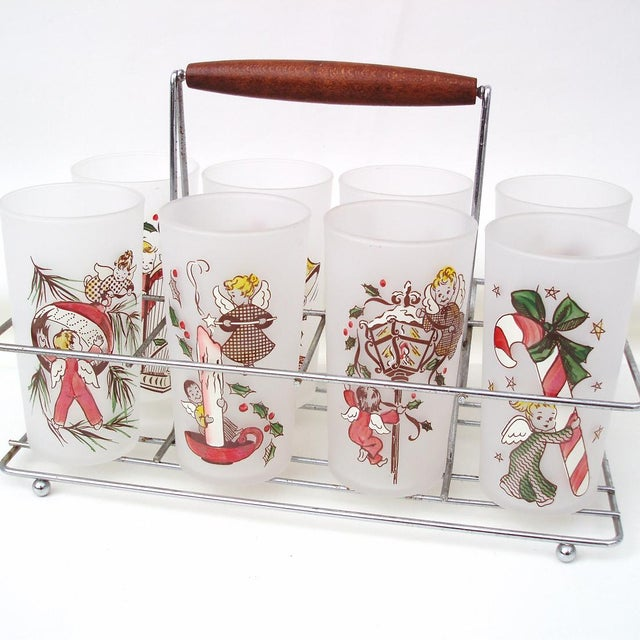 Image of Rare Angel Barware Gay Fad Glasses Caddy - S/9
