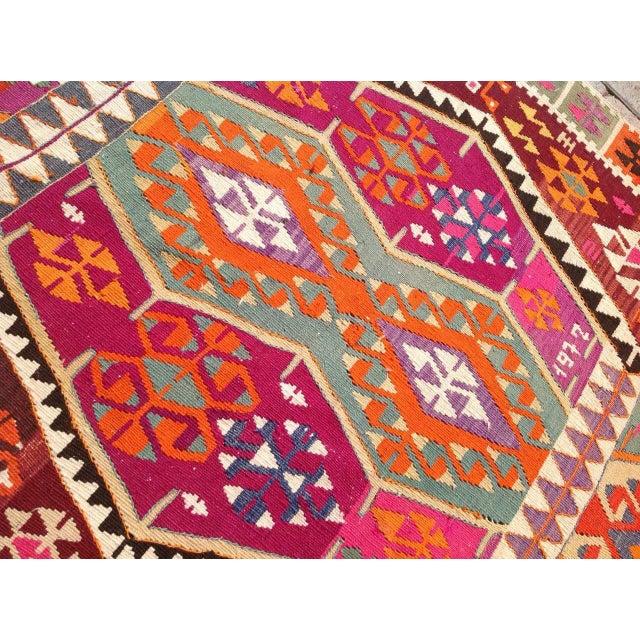 Vintage Turkish Kilim Rug - 4′4″ × 11′8″ - Image 5 of 7