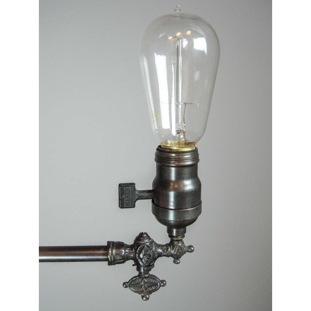 Gas Light Fixture with Tungsten Bulb - Image 4 of 7