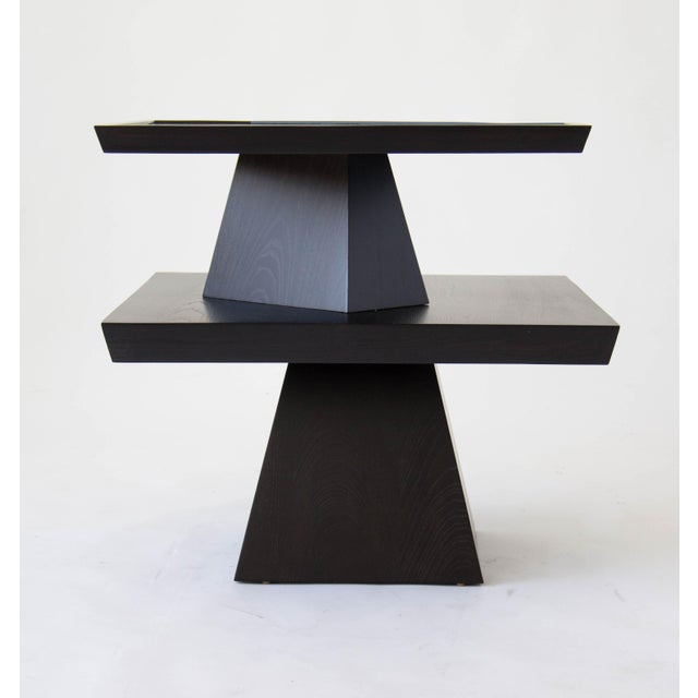 Brutalist Two-Tiered End Table - Image 8 of 11