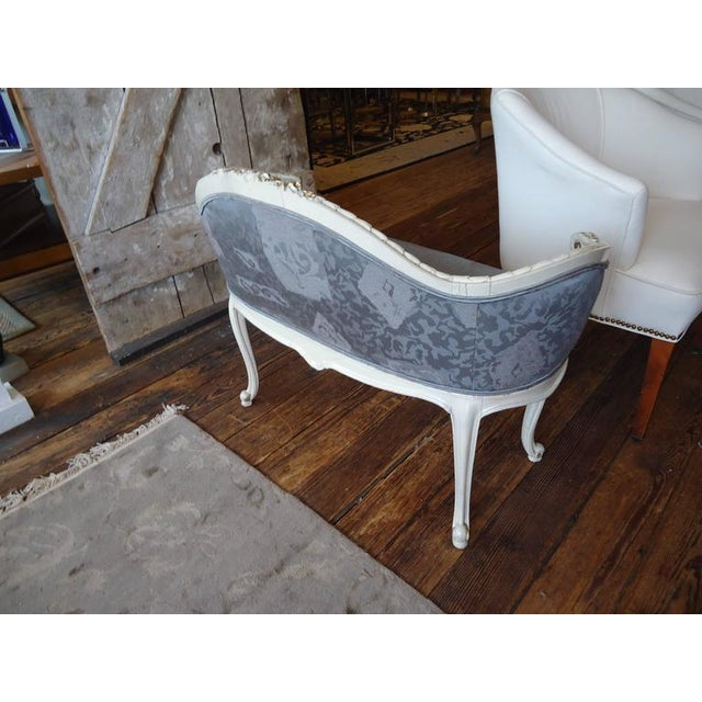 Antique French Small Settee Loveseat - Image 7 of 7