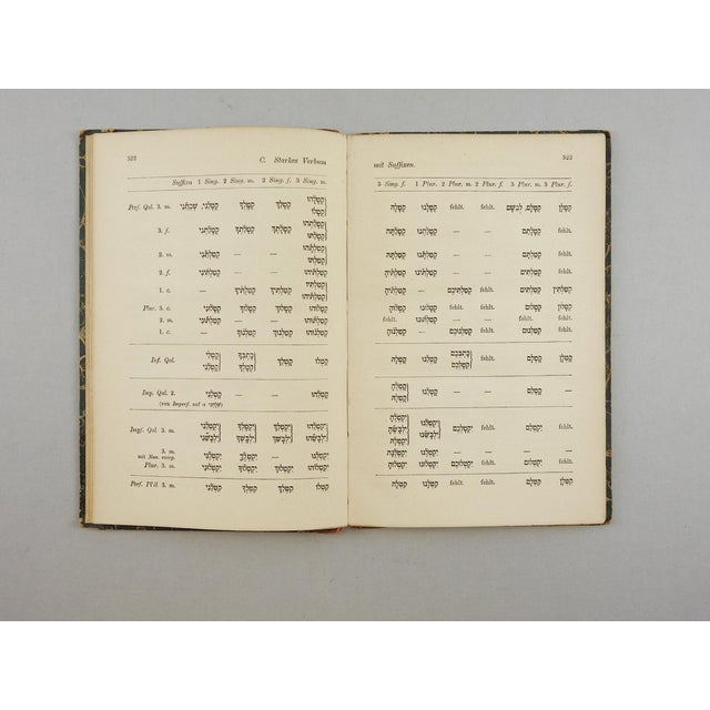 1902 Hebrew Grammar in German Book - Image 4 of 5