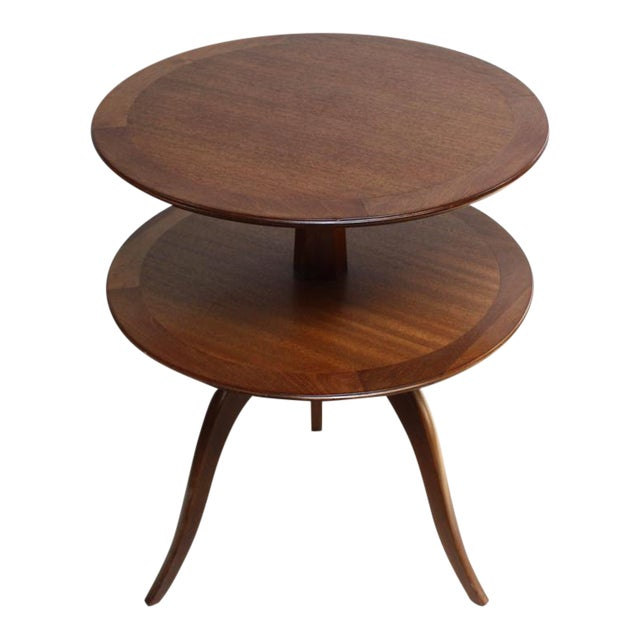 Edward Wormley for Dunbar, Two-Tier Mahogany Occasional Table - Image 1 of 10