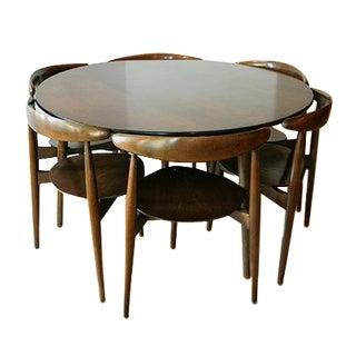 Danish Modern Hans Wegner Dining Set with 6 Chairs