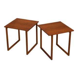Kai Kristinasen Danish Modern Teak Tables - A Pair