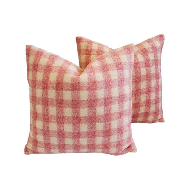 Custom Scottish Plaid Virgin Wool Pillows - A Pair - Image 1 of 8