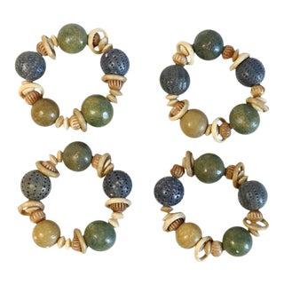 Beaded Napkin Rings - Set of 4
