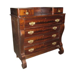 Empire Flamed Mahogany Chest