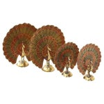 Image of Brass Peacocks - Set of 4