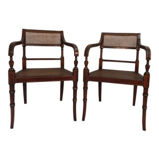 Kindel Regency Style Armchairs - A Pair