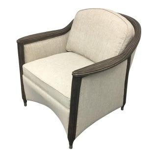 New Palecek Wicker & Linen Arm Chair