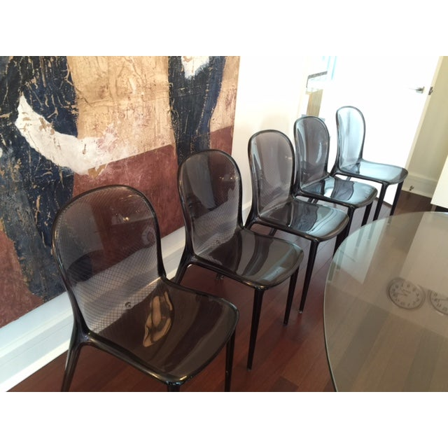 Grey Kartell Thalya Dining Chairs - Set of 5 - Image 6 of 8