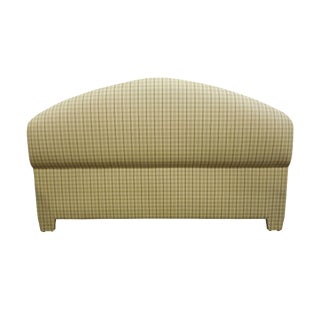 Upholstered Plaid King Headboard