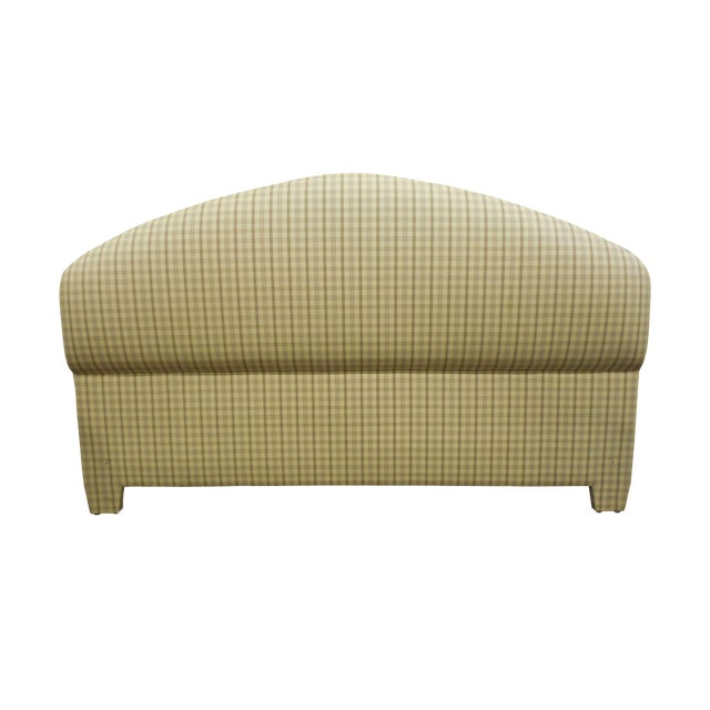 Upholstered Plaid King Headboard - Image 1 of 5