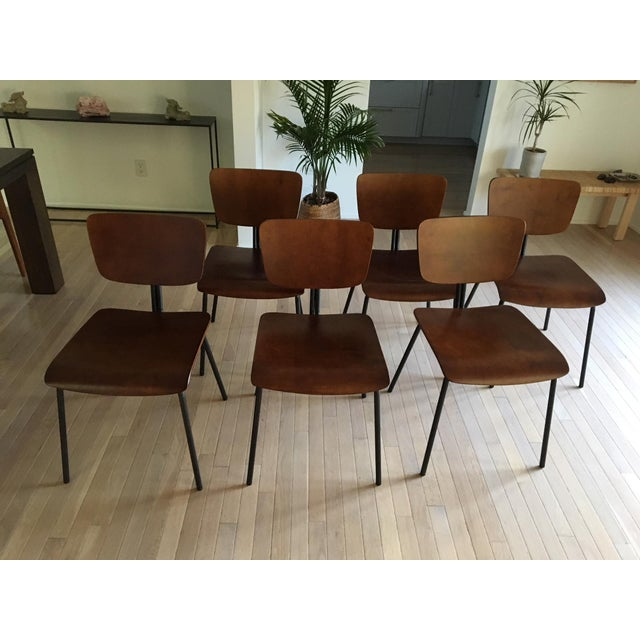 Molded Wood Dining Chairs - Set of 6 - Image 2 of 6