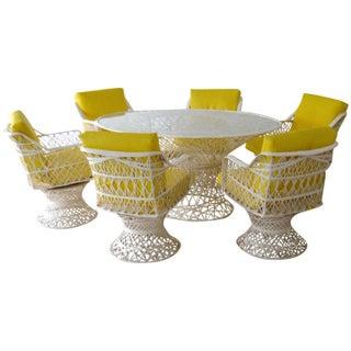 Spun Fiberglass Oval Dining Set